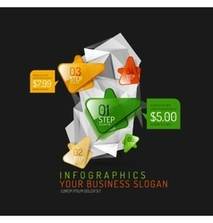 Fresh business abstract infographic vector