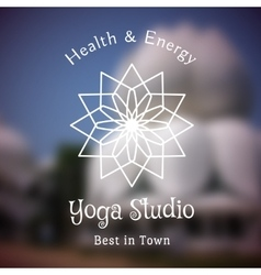 Yoga studio logo template vector