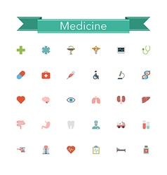 Medicine flat icons vector