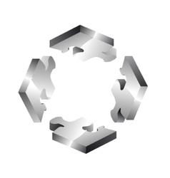 Four puzzle tiles vector