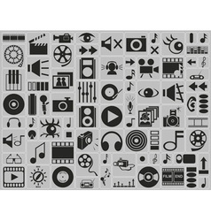 Music video photo icons vector