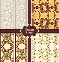 Set of seamless ornamental patterns vector