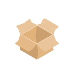 Open empty cardboard box icon isometric 3d style vector