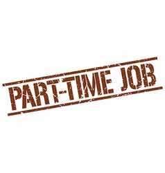 Part-time job stamp vector
