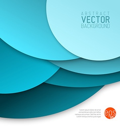 abstract background made from blue circles vector image vector image