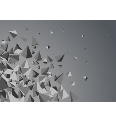Abstract triangles space vector