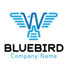 Blue Bird Design vector image