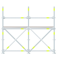 colored flat style scaffolding vector image vector image