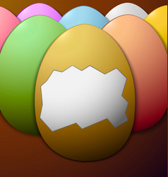 Colorful easter eggs without the shell in the vector