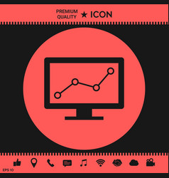computer monitors with graph vector image vector image