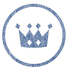 Crown rounded fabric textured icon vector