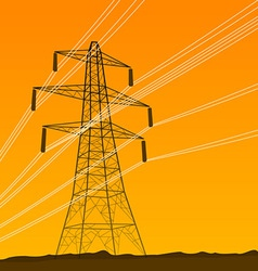 electrical tower vector image vector image