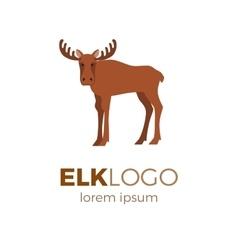 elk logo vector image vector image