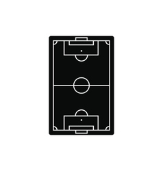 Football playground black simple icon vector image vector image