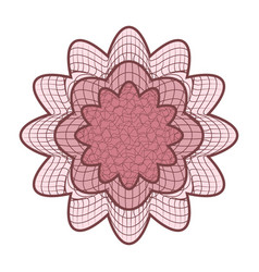 guilloche rosette abstract rosette vector image