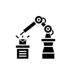 industrial automation icon vector image vector image