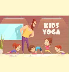 kids yoga training vector image