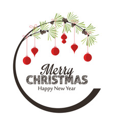 Merry christmas decorations vector