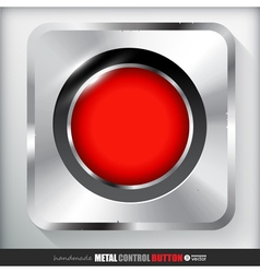 Metal record button applicated for html and flash vector