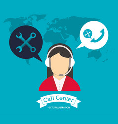 Operator earphones call center world support vector