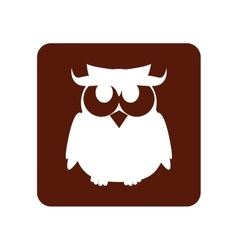 Owl halloween card icon vector
