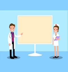presentation doctor cartoon vector image vector image