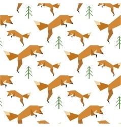Red fox pattern vector