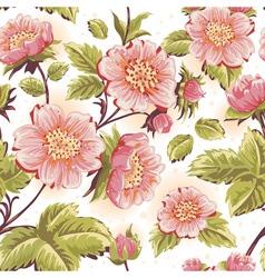 Romantic feminine seamless texture with flowers vector image