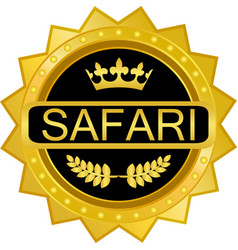 safari gold icon vector image vector image
