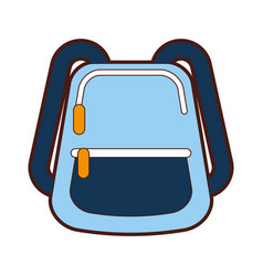School bag isolated icon vector