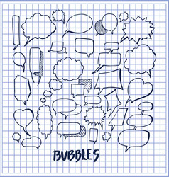 set of hand drawn bubbles vector image vector image