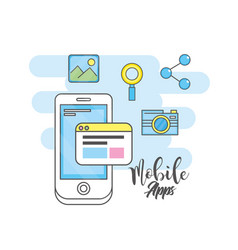 smartphone apps technology social media vector image