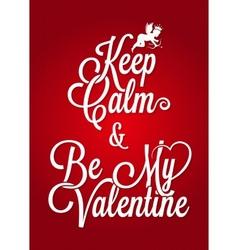 Valentines day vintage lettering card background vector