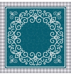 Vintage card with ornament vector image vector image
