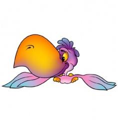 violet parrot vector image vector image