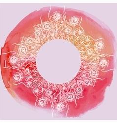 watercolor paint floral design vector image