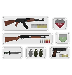Weapons Game resources vector image