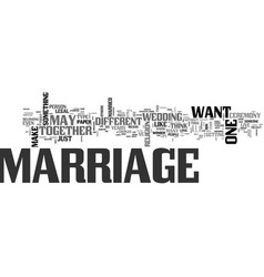 what is marriage text word cloud concept vector image vector image