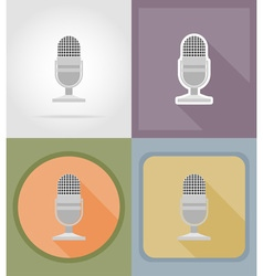 Music items and equipment flat icons 03 vector