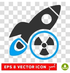 Atomic rocket science eps icon vector