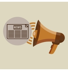 Megaphone concept news headline design vector
