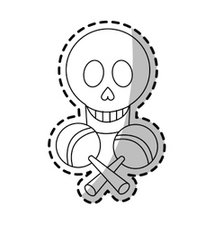 Isolated mexican skull design vector