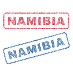 Namibia textile stamps vector