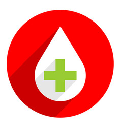 Drop icon first aid donate sign vector