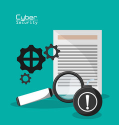 Cyber secuirty document file information vector