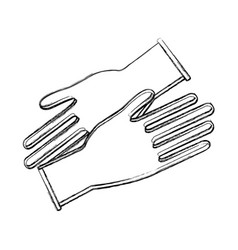 contour medical latex gloves to protection hands vector image