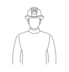 Firefighterprofessions single icon in outline vector
