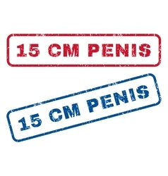 15 cm Penis Rubber Stamps vector image vector image