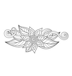 Beautiful abstract monochrome floral composition vector