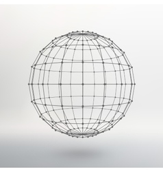 Scope of lines and dots ball of the lines vector